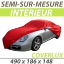 Housse intérieure semi-sur-mesure en Jersey Coverlux - Housse auto : Bache protection Mercedes 220A W187 cabriolet