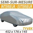 Housse intérieure/extérieure semi-sur-mesure en Tyvek - Housse auto : Bache protection Mercedes Pagode W113 cabriolet