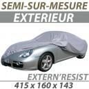 Housse extérieure semi-sur-mesure en PVC ExternResist - Housse auto : Bache protection Mitsubishi Colt cabriolet