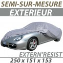 Housse extérieure semi-sur-mesure en PVC ExternResist - Housse auto : Bache protection Smart ForTwo cabriolet