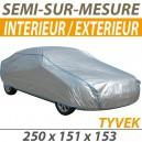Housse intérieure/extérieure semi-sur-mesure en Tyvek - Housse auto : Bache protection Smart ForTwo cabriolet