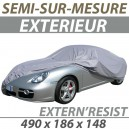 Housse extérieure semi-sur-mesure en PVC ExternResist - Housse auto : Bache protection Peugeot 407 coupé