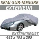 Housse extérieure semi-sur-mesure en PVC ExternResist - Housse auto : Bache protection 4x4 Land Rover Defender Court