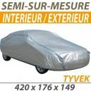 Housse intérieure/extérieure semi-sur-mesure en Tyvek - Housse auto : Bache protection Citroen C3 Pluriel cabriolet