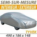 Housse intérieure/extérieure semi-sur-mesure en Tyvek - Housse auto : Bache protection Peugeot 407 coupé