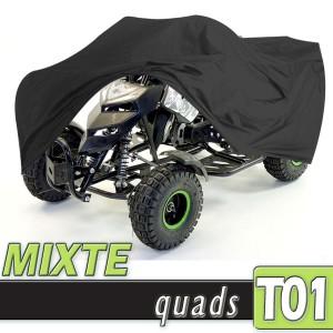 Bache quad protection mixte, housse en PVC Taille 01