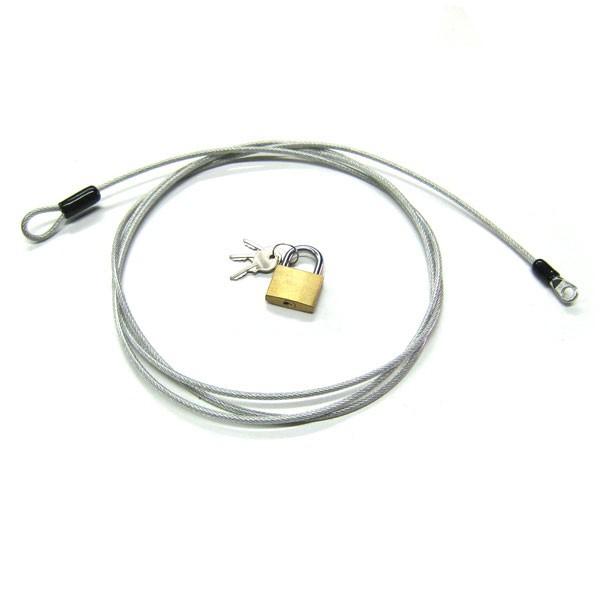cable antivol gaine 230cm pour porte bagages et housses de. Black Bedroom Furniture Sets. Home Design Ideas