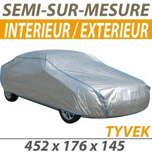 Bache protection voiture mixte semi sur mesure en Tyvek Peugeot 308 cc