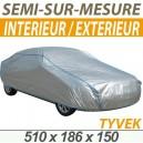 Bache protection voiture mixte semi sur mesure en Tyvek Volkswagen Phaeton
