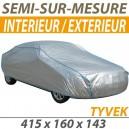 Housse intérieure/extérieure semi-sur-mesure en Tyvek - Housse auto : Bache protection Alfa Romeo Giulia Spider 1600 cabriolet