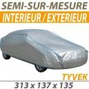 Housse intérieure/extérieure semi-sur-mesure en Tyvek - Housse auto : Bache protection Autobianchi Bianchina Eden Roc cabriolet