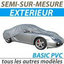 Housse extérieure semi-sur-mesure en PVC - Housse auto : Bache protection voiture