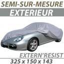 Housse extérieure semi-sur-mesure en PVC ExternResist - Housse auto : Bache protection Fiat 500 C Topolino cabriolet