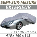 Housse extérieure semi-sur-mesure en PVC ExternResist - Housse auto : Bache protection Fiat 1500 Osca cabriolet