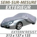 Housse extérieure semi-sur-mesure en PVC ExternResist - Housse auto : Bache protection Fiat 500 N cabriolet