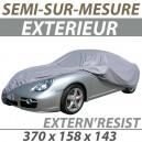 Housse extérieure semi-sur-mesure en PVC ExternResist - Housse auto : Bache protection Fiat Panda cabriolet
