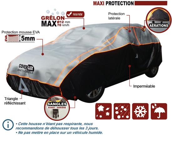 Bâche voiture anti-grêle
